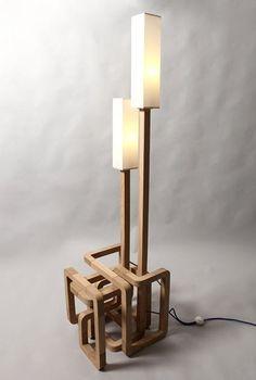 Wooden Floor Lamp Designs : ... Lamps, Clocks, Fans, Mirrors on Pinterest  Floor lamps, Table lamps