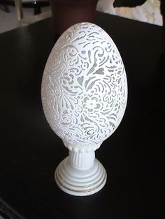 Egg Sculpture from Goose Egg