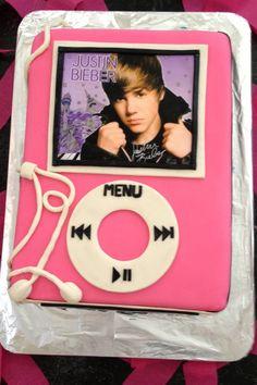 Bieber Fever IPod cake
