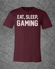 Trendy Pop Culture Eat sleep gaming destiny xbox ps2 ps3 ps4 league of legends war of warcraft Tee T-Shirt Ladies Youth Adult
