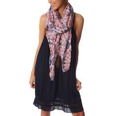 Pink ethnic printed scarf lightweight