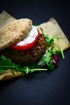 the best ever black bean burgers - The Talking Kitchen
