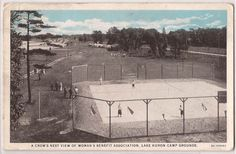 "Lake Huron MI Postcard ""Crow's Nest View of Woman's Benefit Assoc"" Camp Grounds"