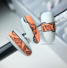 Cute Nails, Pretty Nails, Nail Art Arabesque, Acrylic Nail Designs, Acrylic Nails, Nail Drawing, Nail Mania, Nagellack Design, Star Nails
