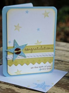 baby card . for boy .