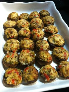 Stuffed mushrooms from #CJsCatering.  Easy finger food and savory tastes.
