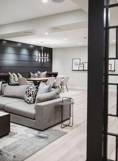 Basement Colors, Cozy Basement, Basement Living Rooms, Modern Basement, Basement House, Basement Makeover, Basement Walls, Basement Flooring, Basement Renovations