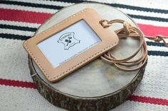 Natural Vegetable-tanned Leather ID Card by EternalLeatherGoods