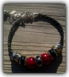 Fashion Trinkette Bracelet Red & Black by AllisonsCreations1, $40.00