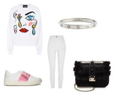 """Casual #5"" by manii13k on Polyvore featuring Boutique Moschino, Cartier, Valentino and River Island"