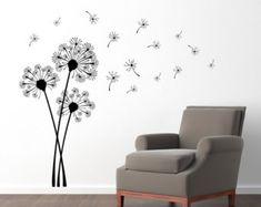 Dandelion Seeds Flower Wall Decals Living Room by DecalsFreeze
