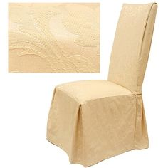 Damask Dining Chair Slipcover by Wayfair