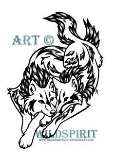 Wolves And Phoenix Tattoo by WildSpiritWolf on DeviantArt