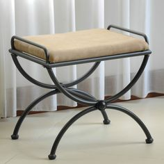 Shop for International Caravan Cambridge Iron Vanity Bench with Cushion. Get free delivery On EVERYTHING* Overstock - Your Online Furniture Store! Chair Redo, Wooden Vanity, Vanity Stool, Vanity Set, Online Furniture Stores, Modern Furniture, Decoration, Home Decor, Java