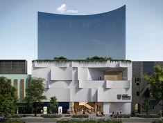 Facade Design, Architecture Design, Concrete Facade, Jewish Art, Learning Spaces, Exhibition Space, Modern Buildings, Wonderful Places, Melbourne