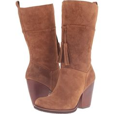 Kork-Ease Umbriel (Tenne Suede) Women's Pull-on Boots (210 CAD) ❤ liked on Polyvore featuring shoes, boots, ankle boots, brown, brown high boots, bootie boots, brown ankle boots, suede ankle boots and tall boots