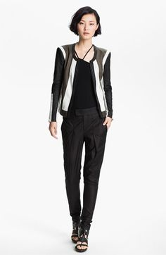 Helmut Lang 'Pax' Leather Jacket available at #Nordstrom