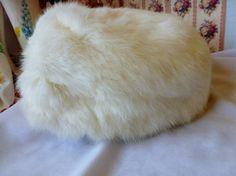 Vintage White Fur Hat Fur Hat Union Made U.S.A. by vintagelady7, $29.99