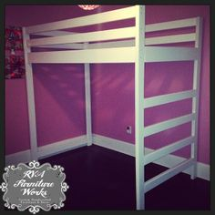Simple Loft Bed #customfurniture