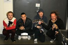 @Shinedown with Motley Zoo Animal Rescue puppies #Shinedown