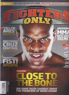 Fighters Only magazine Jon Jones Rory MacDonald Thunderbolt fist Holiday gifts