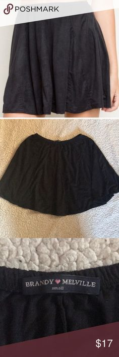 Suede brandy skirt Never worn! Super soft and stretchy Brandy Melville Skirts