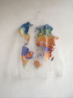 OH MY GOD - map of the world sweatshirt in what looks like organza