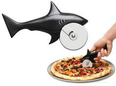 Shark pizza cutter! Reeds two favorite things! Sharks and Pizza! lol