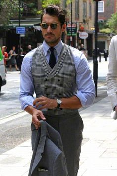 David Gandy leaving the launch of London Collection Men Spring/Summer - London