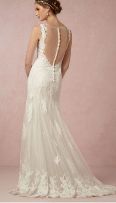 Wedding dress with buttons up the back | Francine from BHLDN