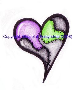 Tattoo Design-Patchwork Heart