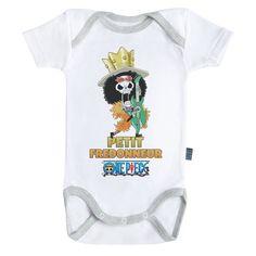 One Piece /™ Baby Geek Petit Pirate Luffy Body B/éb/é Manches Courtes Parent Licence Officielle