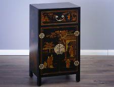 Chinesische Kommode chinesischer Nachtschrank China Möbel schwarz Feng Liquor Cabinet, Ebay, Storage, Furniture, Home Decor, Nightstand, Dresser, Closet, Purse Storage