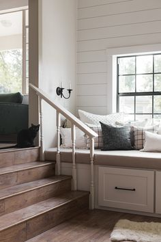 Home Improvement DIY Videos Kitchen Tips Long Narrow Rooms, Storage Bench Seating, Seat Storage, Window Benches, Window Seats, Window Seat Kitchen, Most Comfortable Office Chair, Faux Shiplap, Kitchen Benches