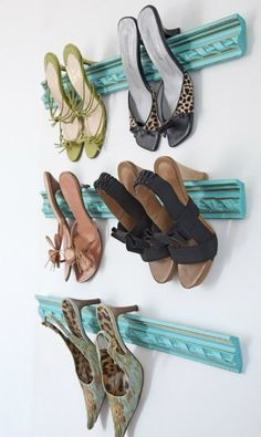 bedroom - shoe - closet - organization  I found this the same place as the book-covered hidden box for book shelves.  Couldn't find it on pinterest - wasn't my original idea but this would be great for my closet!