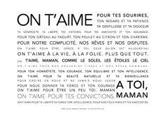 Affiche/carte fête des mères à imprimer - Vie de Miettes