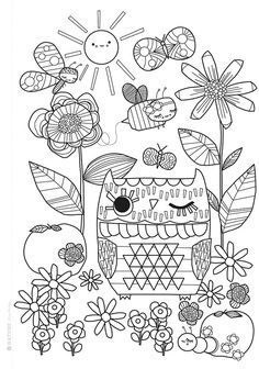 Mollie Makes colouring sheet free printable preview 2