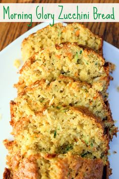 Morning Glory Zucchini Bread -- give old zucchini bread a little kick by adding apple, carrot, pineapple, & coconut; -easy recipe is the best & sure to be a huge hit in your home! Zucchini Zoodles, Zucchini Bread Recipes, Carrot Zucchini Bread, Shredded Zucchini Recipes, Zucchini Bread With Pineapple, Zucchini Fritters, Healthy Zucchini Muffins, Yellow Zucchini Recipes, Easy Zuchinni Bread