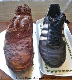 Football Boot Cake tutorial 4