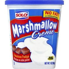 Substitute for Marshmallow Cream=16 large marshmallow + 2tsp corn syrup