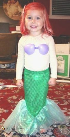 awesome diy little mermaid halloween costumes ariel her daddy and the evil sea witch ursula