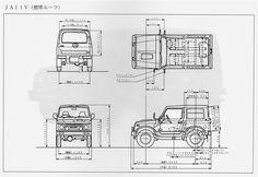 バン車標準ルーフの車両サイズ