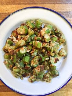 """Southern Fried Okra - S! """"I grew up in Tennessee, and fried okra was a Sunday dinner staple!"""" - Sarah www.TrimHealthyMama.com"""