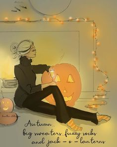 Big sweaters, fuzzy socks and jack -o- lanterns kind of night. Bon Weekend, Hello Weekend, Autumn Cozy, Autumn Art, Autumn Leaves, Halloween Quotes, Fall Halloween, Autumn Scenes, Autumn Inspiration