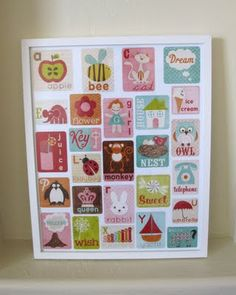 Alphabet picture - inspiration for an applique quilt for the nursery