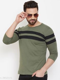Checkout this latest Tshirts Product Name: *Trendy Men's T-Shirt* Fabric: Cotton Sleeve Length: Long Sleeves Pattern: Printed Multipack: 1 Sizes: S (Chest Size: 37 in, Length Size: 27 in)  M (Chest Size: 39 in, Length Size: 27.5 in)  Easy Returns Available In Case Of Any Issue   Catalog Rating: ★4 (234)  Catalog Name: Trendy Men's T-Shirt CatalogID_1207189 C70-SC1205 Code: 363-7493319-999