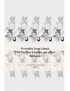Printable Soap Labels PDF editable instant by AshliPrintables, $8.00