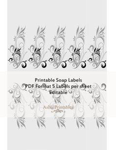 Printable Soap Labels PDF editable instant by AshliPrintables, $8.00