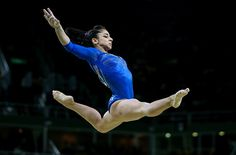 Russia's Seda Tutkhalian performs her routine during the artistic gymnastics women's individual allaround final event at the 2016 Summer Olympic...