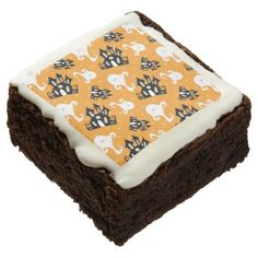 #Halloween Ghosts and Haunted House Brownie - #halloween #brownies #sweets #goodies